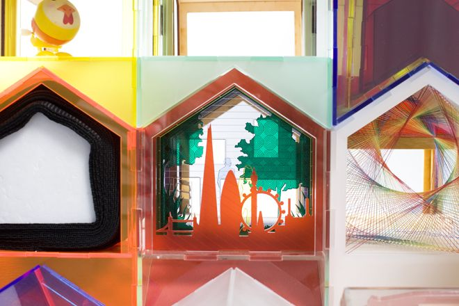 Jigsaw House by MAKE Architects Each partner in the practice was encouraged to invent their own house filling each room with their own sensory expressions of play and color. Image: Thomas Butler