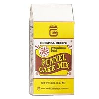 Pennsylvania Dutch Funnel Cake Mix 5lb bag. $10.33 ea or  $49.60 for case of 6.  From Popcorn Supply