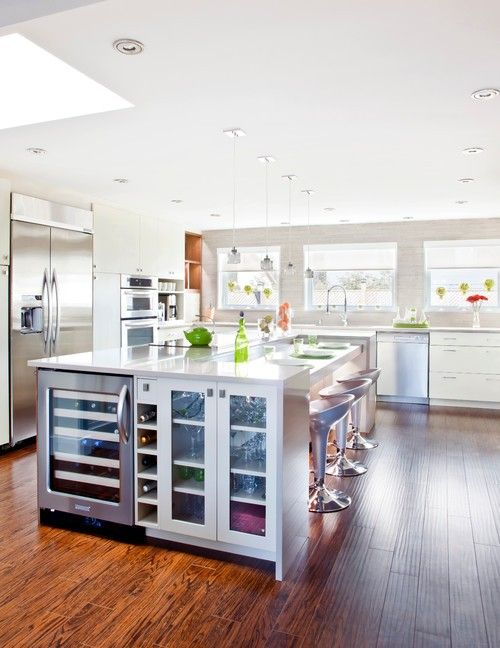 55 best 55 Kücheninseln Mit Einem Weinregal images on Pinterest - u förmige küchen