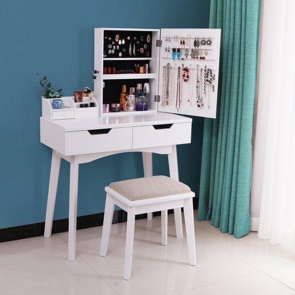 51 Makeup Vanity Tables To Organize Your Makeup Collection Makeup Table Vanity Vanity Table Home Decor
