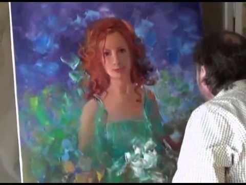 Igor Sakharov: romantic portrait (artist video tutorial painting drawing lesson)