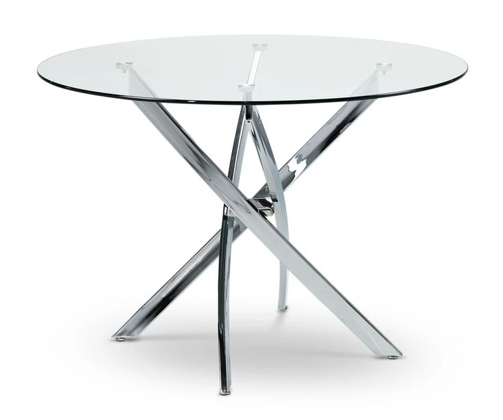 Kate Dining Table Chrome Leon S Casual Dining Room Furniture