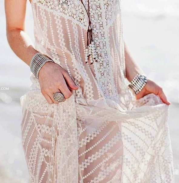 Boho look.....add a white or black tight tank dress underneath and this would make a gorg dress!