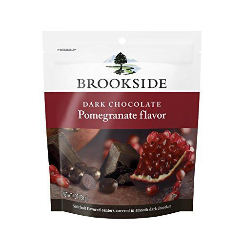 Brookside Dark Chocolate Pomegranate Flavor Candy, 7 Ounce (Pack of 4) - http://bestchocolateshop.com/brookside-dark-chocolate-pomegranate-flavor-candy-7-ounce-pack-of-4/