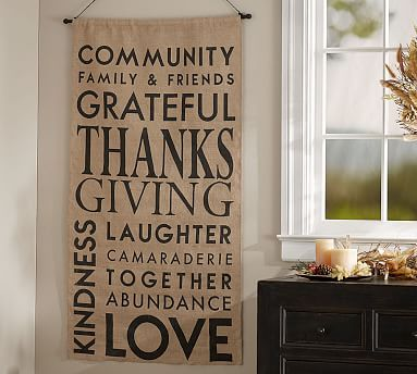 Outdoor Thanksgiving Sentiment Banner #potterybarn