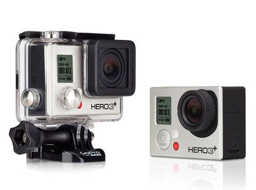 The GoPro HERO3+ Silver Edition is 20% smaller, 15% lighter and 2x more powerful than its predecessor & captures 10MP still images & 1080p videos. Read the full GoPro HERO3+ Silver Edition review. #goprohero3plus #goprohero3plussilveredition #hero3plussil