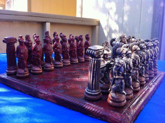 Greek mythology Chess by WinkingBlindBats