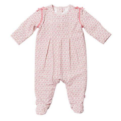 Bebe Layla XW14-790 Petal Print Layla L-S Ribbon Detail Romper – Sweet Thing Baby & Childrens Wear #Winter #Cloth #Girl sweetthing.com.au