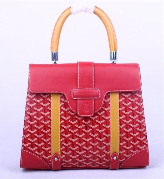Amazing Goyard Tote Bags 8941 Burgundy Red With Yellow Cheap | Goyard Bags Barneys