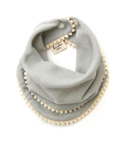 Pom pom bib (pic 1 of 2): The girl's equivalent of a bandanna bib which the baby boys use