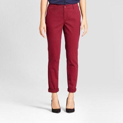 Women's Straight Leg Slim Chino Pants - A New Day™ : Target