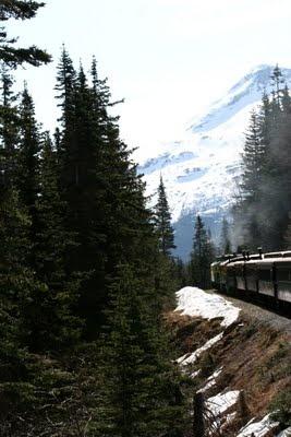 Alaska, train into Canada.