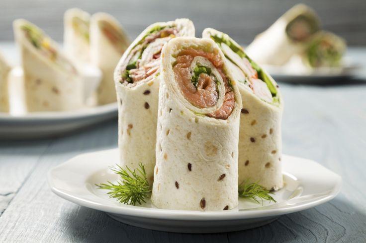 Recette Wrap au saumon et ciboulette  : les ingrédients, la préparation et la cuisson de la recette Wrap au saumon et ciboulette  -  Dans un bol,...