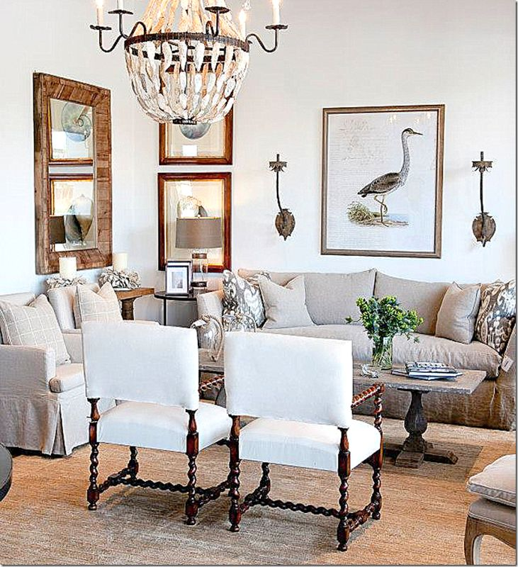 Linen & seagrass in living room by designer Susan Gray, Houston
