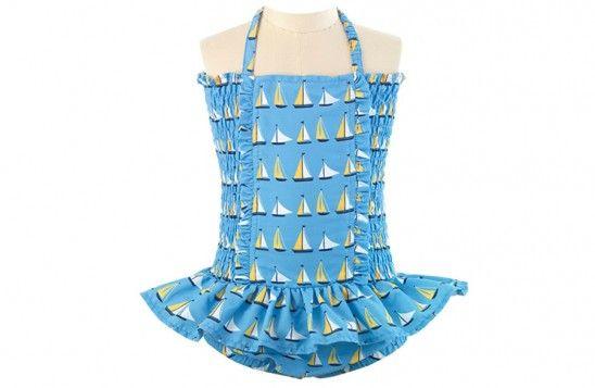 Little London Magazine - summer shopping. Rachel Riley sailboat print swimming costume