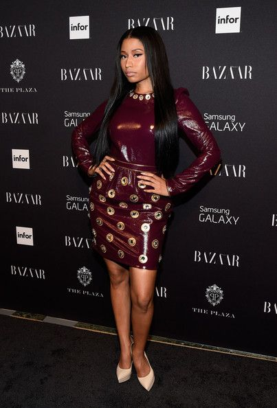 Nicki Minaj Photos - Nicki Minaj attends Moet & Chandon and Belvedere Vodka Toast to Harper's Bazaar Icons at The Plaza Hotel on September 5, 2014 in New York City. - Moet & Chandon Toasts to Harper's Bazaar Icons - Inside