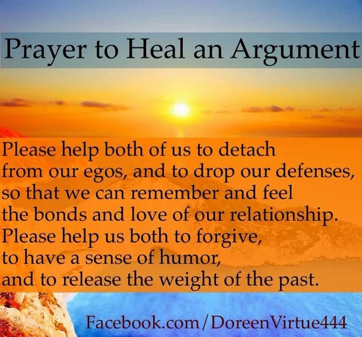 Doreen Virtue's prayer to heal an arguement