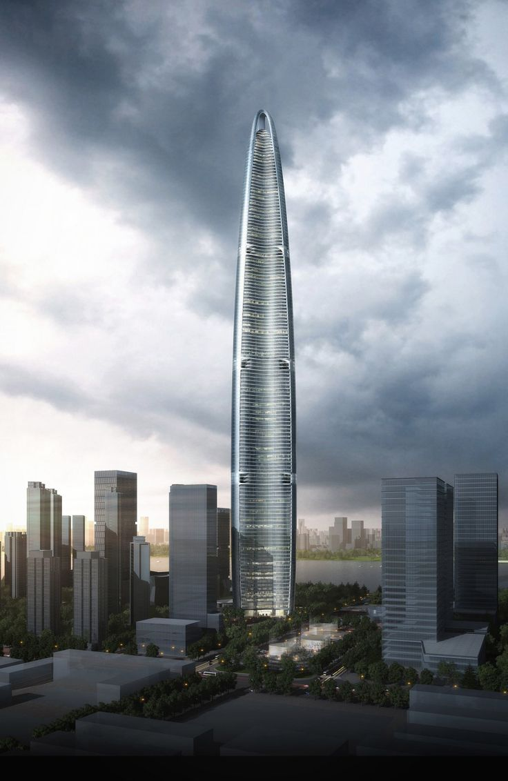 Wuhan Greenland Center By Adrian Smith And Gordan Gill Architecture The At 606 Meters Feet Will Likely Be Chinas Third Tallest
