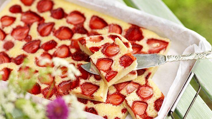 Recept jordgubbskladdkaka