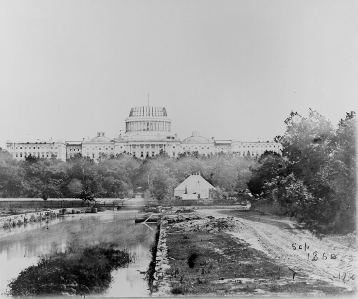 U.S. Capitol under construction    http://www.archives.gov/research/military/civil-war/photos/images/civil-war-120.jpg