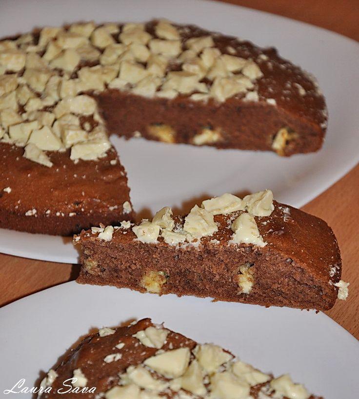 Prajitura cu ciocolata alba crocanta