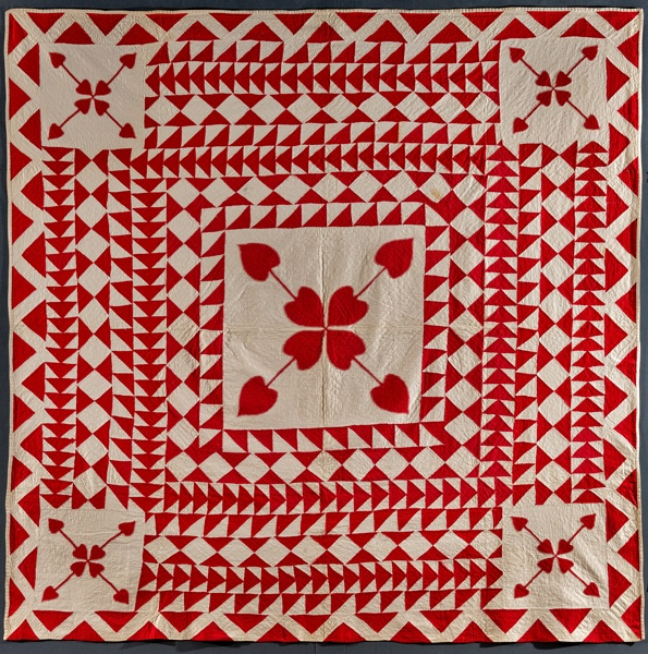 Red and White antique quilt