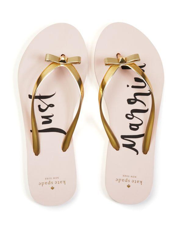 kate spade new york nadine just married flip flops