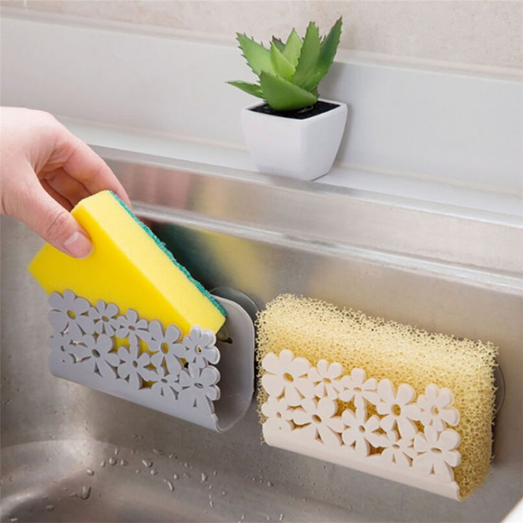 Dish Cloths Rack Suction Sponge Holder Clip Rag Storage Rack Kitchen Organizer S…   – Einrichtung