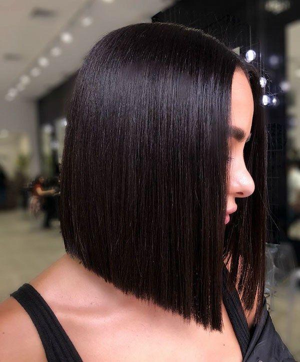 Short Straight Bob Black Hair Short Straight Hairstyles 2019 Thick Hair Styles Straight Hairstyles Hair Styles