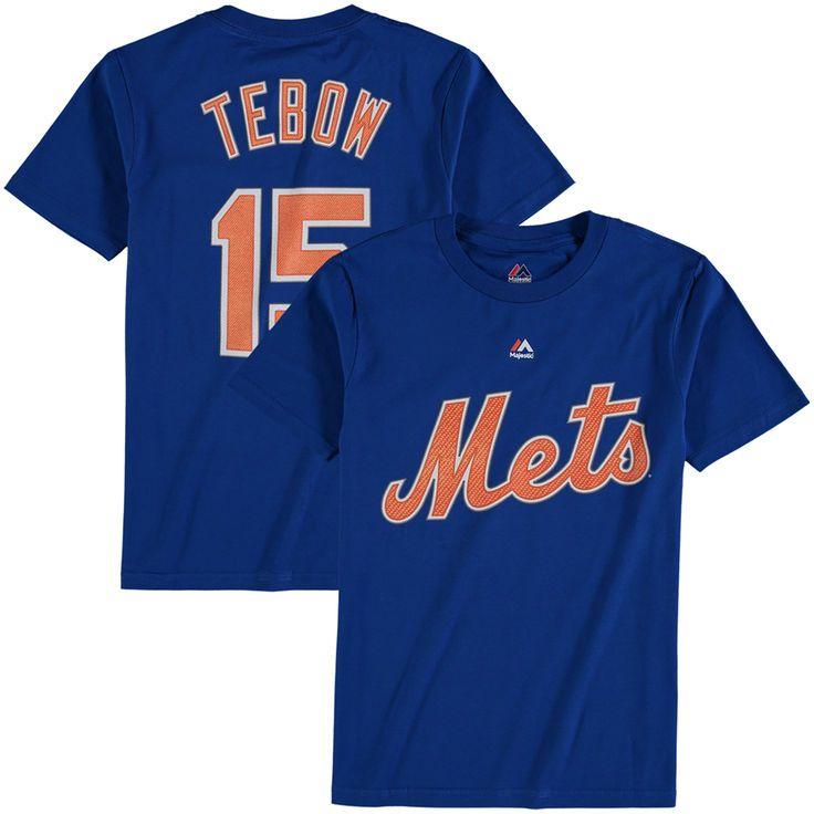 Tim Tebow New York Mets Majestic Youth Player Name & Number T-Shirt - Royal - $21.99