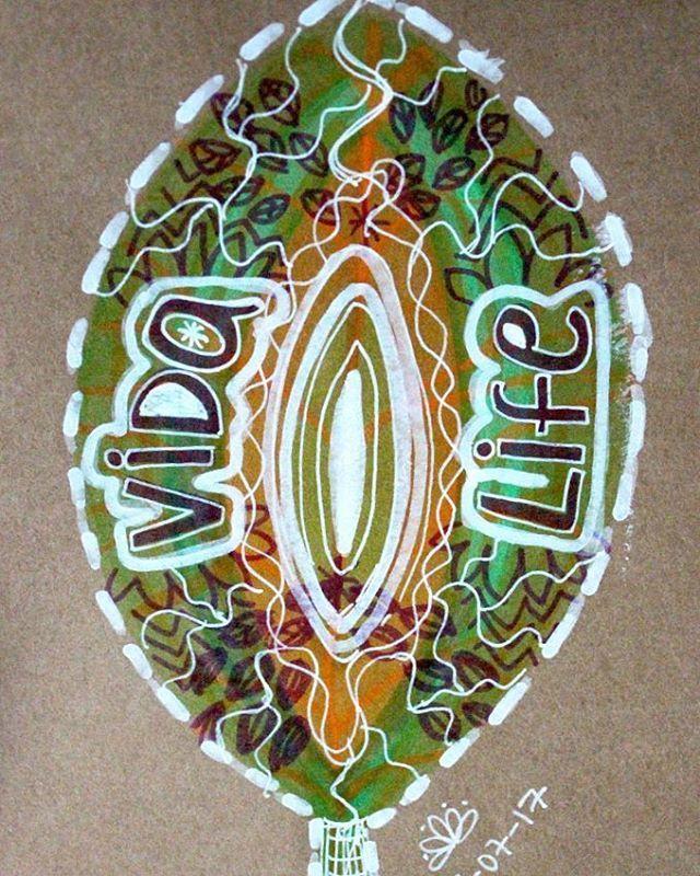 Vida. #vida #life #text #palabra #handmade #sketch #natura #naturaleza  #natural #green #verde #lettering #hechoamano