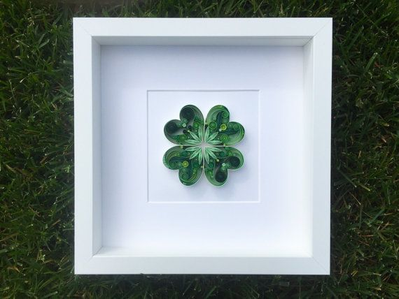 Quilled Paper Art: May Good Luck Be With You by SenaRuna on Etsy