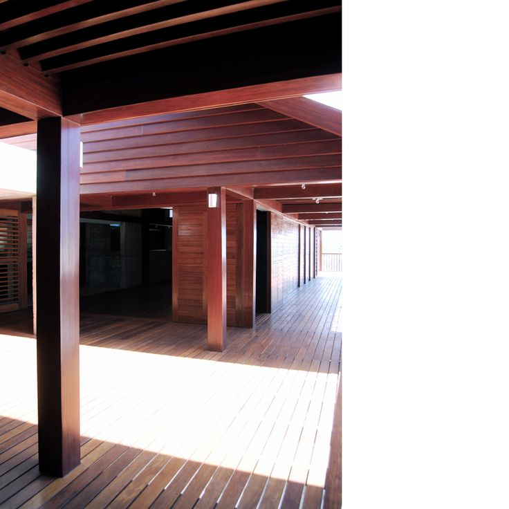 Behbahani Hall Architects / Beach House Preà, Brazil / Timber decks, sliding timber shutters, timber canopy, light and shadow