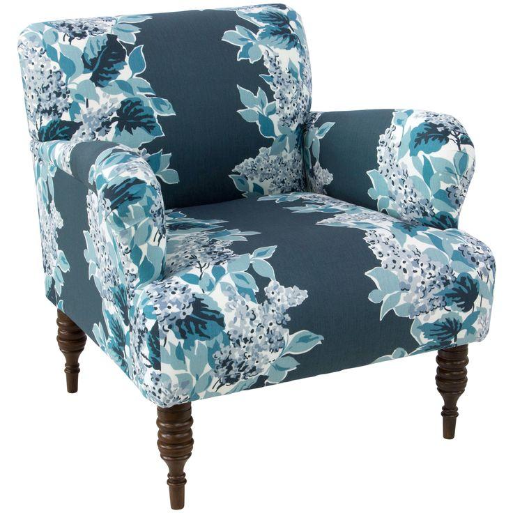 Skyline Furniture Windy Corner Indigo Chair (Indigo), Multi (Fabric)
