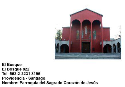 Iglesia El Bosque  Av. El Bosque 822  Providencia - Santiago