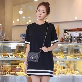 Stripe-Trim Mini Dress from #YesStyle <3 Envy Look YesStyle.com