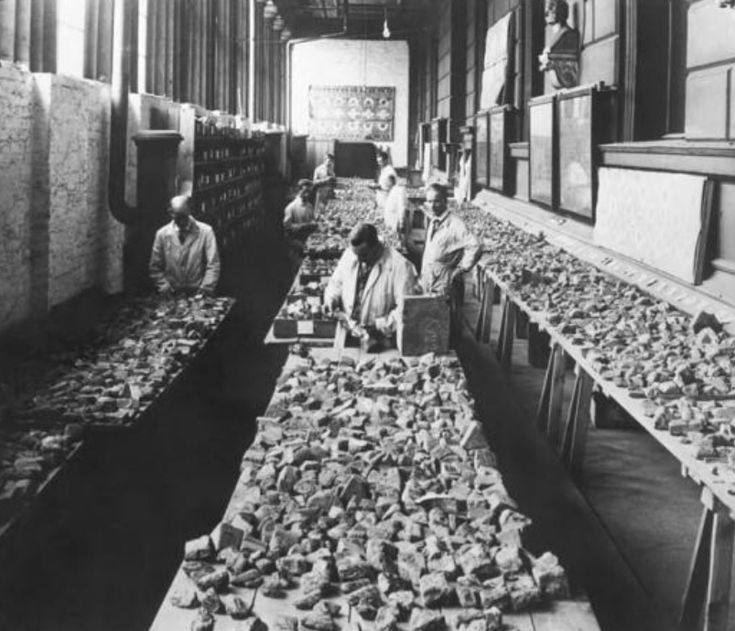 Assembly of the Babylon Brick Fragments into Figures and Ornaments of the Ishtar Gate of Babylon, 1928