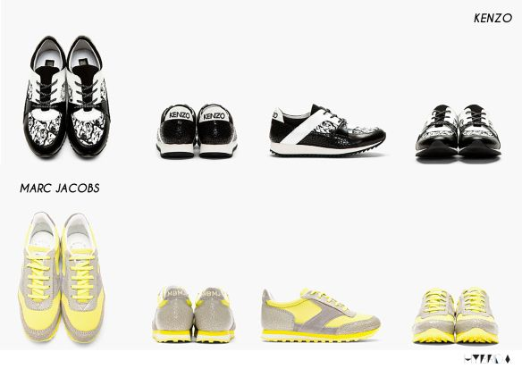 sneakers collage- Hybrida  kenzo marc jacobs