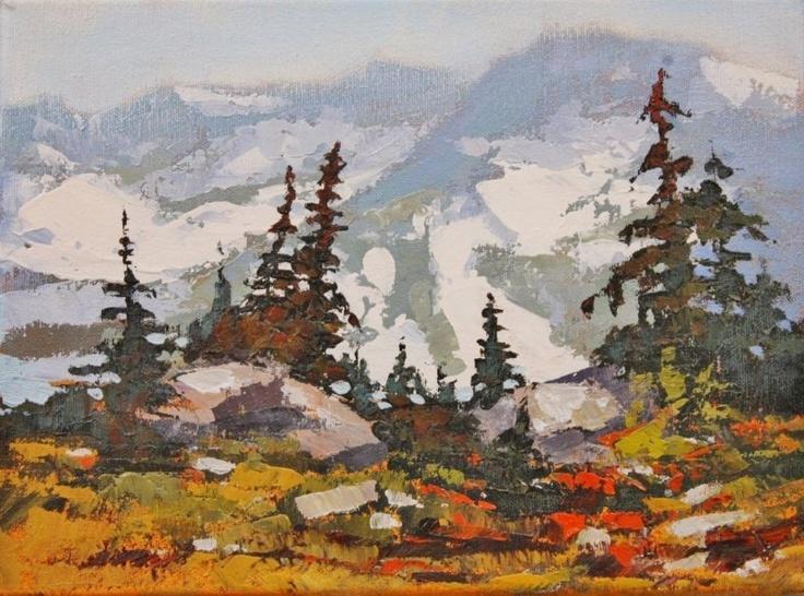 Linda Wilder b. 1955: Whistlers Meadow