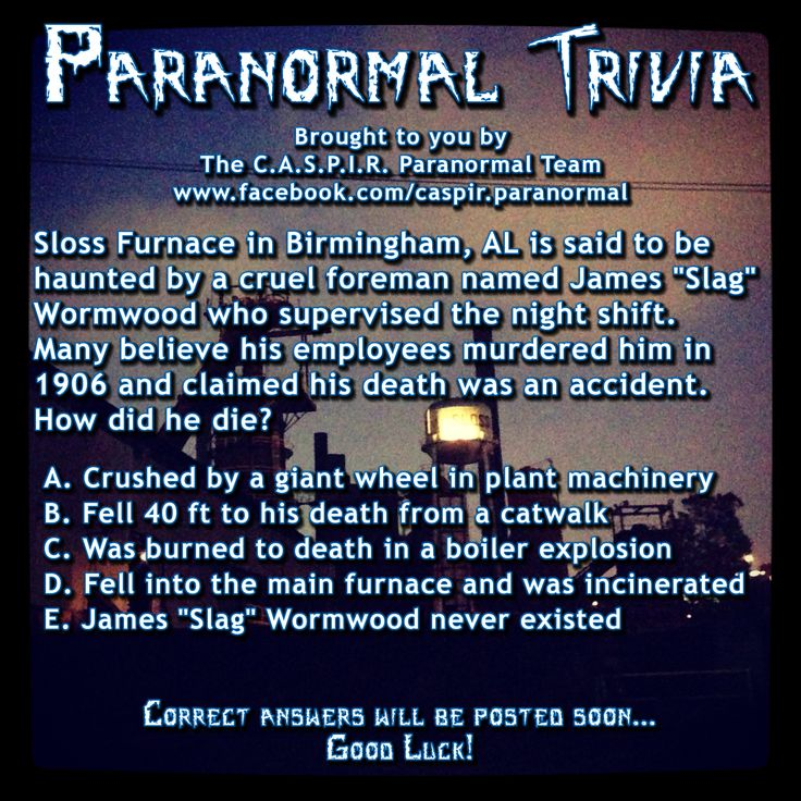 paranormal questions and answers