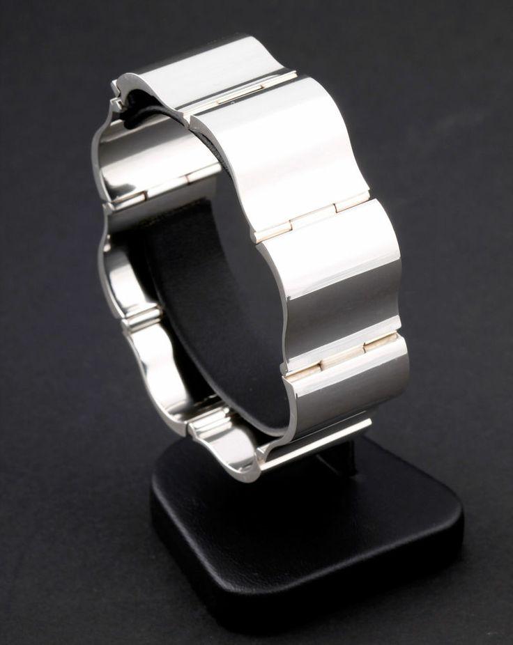 GEORG JENSEN Sterling Silver Surf Bracelet # 432. Designed by Nanna Ditzel. RARE