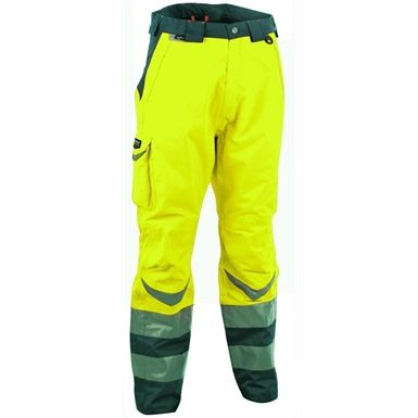 These Cofra Safe Hi Vis Quilted Trousers are both comfortable and Waterproof. These trousers feature welded seams which further increase the effectiveness of the waterproofing by eliminating any stitch-holes, whilst an adjustable waist allows for breathing room and additional flexibility.