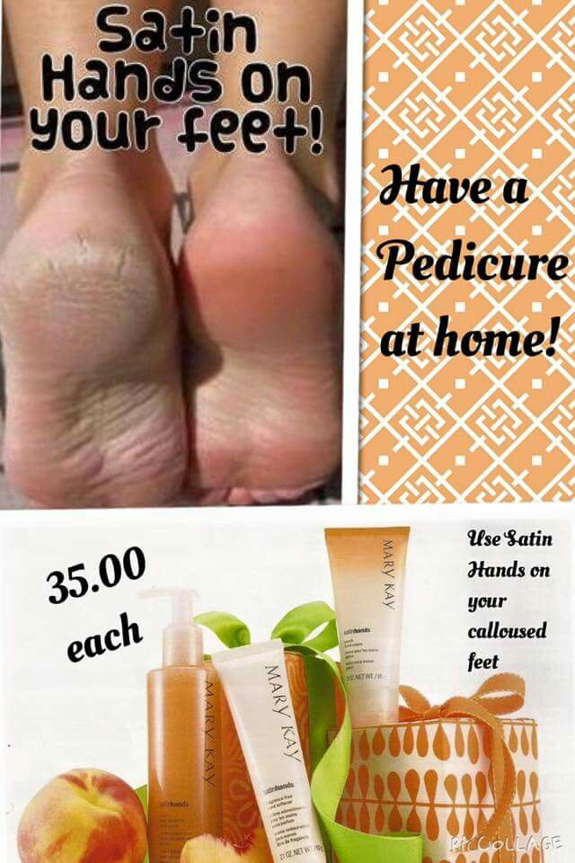 Satin hands can also be used for satin feet!! www.marykay.com/rcontreras0619