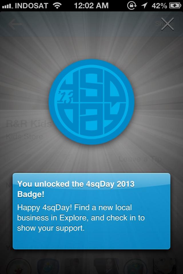 Happy Foursquare Day #4sqDay 2013