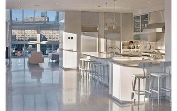 Like the grey terrazzo floors in Alexis Stewart's Tribeca apt