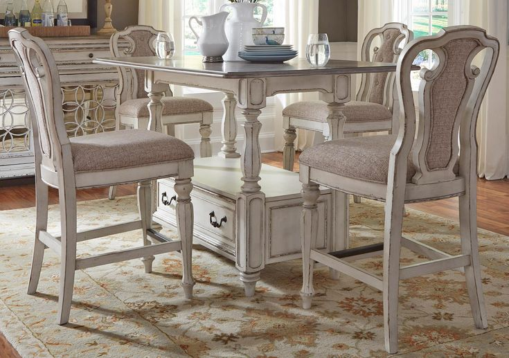 Lacks | Magnolia Manor 7-Pc Counter Height Dining Set