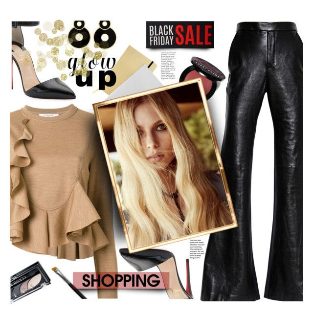 """""""Black Friday Shopping"""" by imurzilkina ❤ liked on Polyvore featuring Christian Louboutin, Givenchy, E L L E R Y, Bobbi Brown Cosmetics, ICE London and For Love & Lemons"""