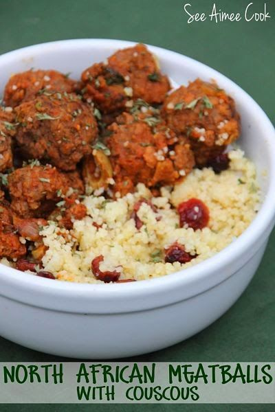 North African Meatballs with Couscous - one of the most delicious meals you'll ever taste! | See Aimee Cook