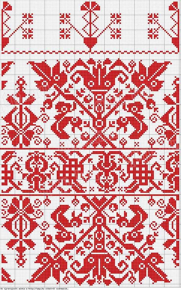 """Hungarian Folk art from Kalotaszeg - often called """"written embroidery"""""""