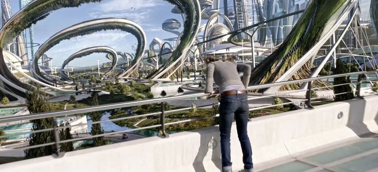 """Screen grab from the first teaser trailer for """"Tomorrowland"""" - Coming May 2015"""